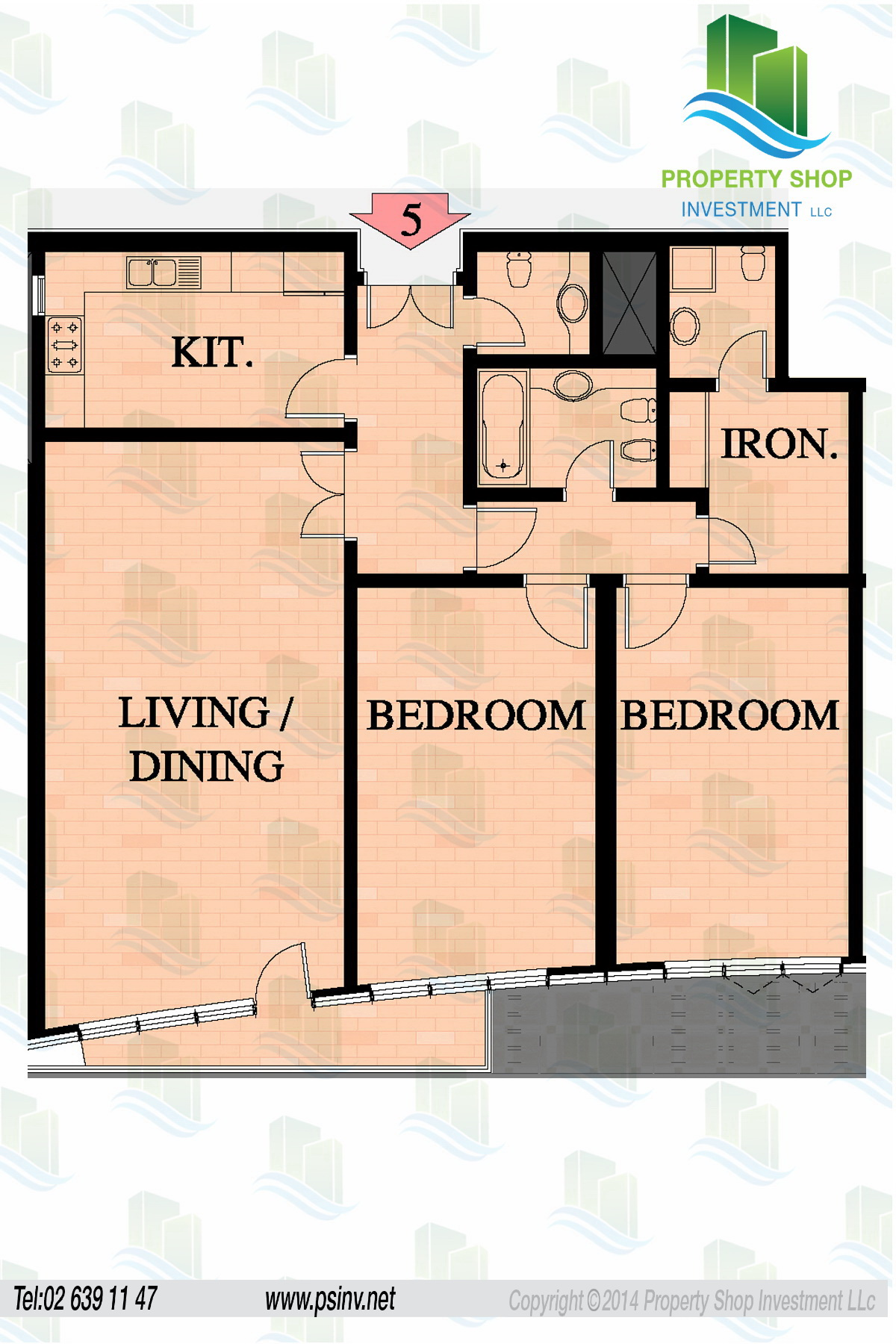 Floor plans of abu dhabi plaza complex najda street for 12 unit apartment building floor plans