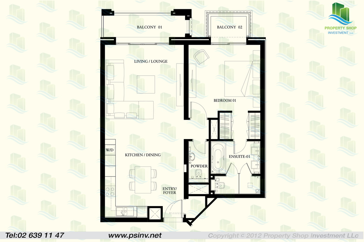 1 bedroom apartment floor plan for rent at willow pond for Apartment plans book