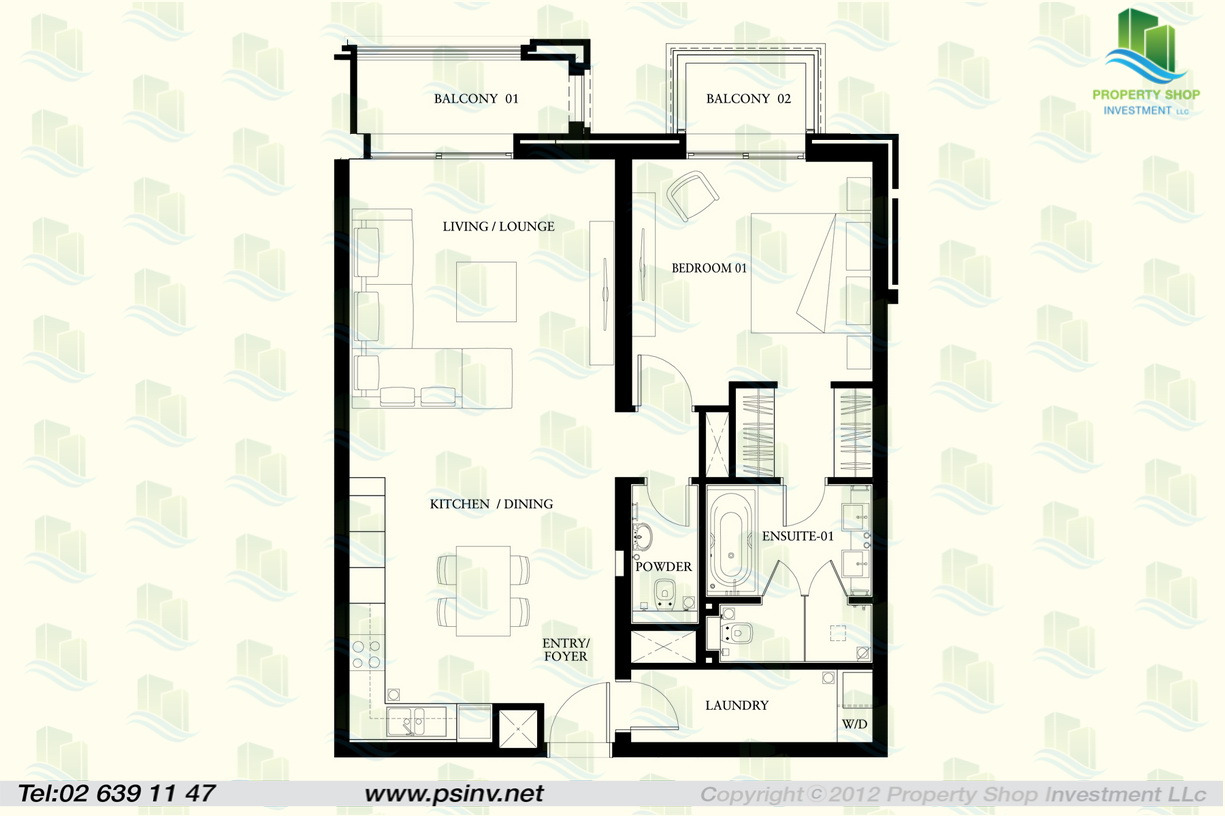 1 bedroom type a bua 1013 37 sqft for 1 bed floor plans