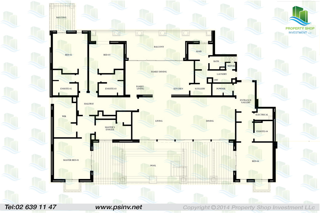 St regis apartments floor plans saadiyat island abu dhabi for 5 bedroom apartments