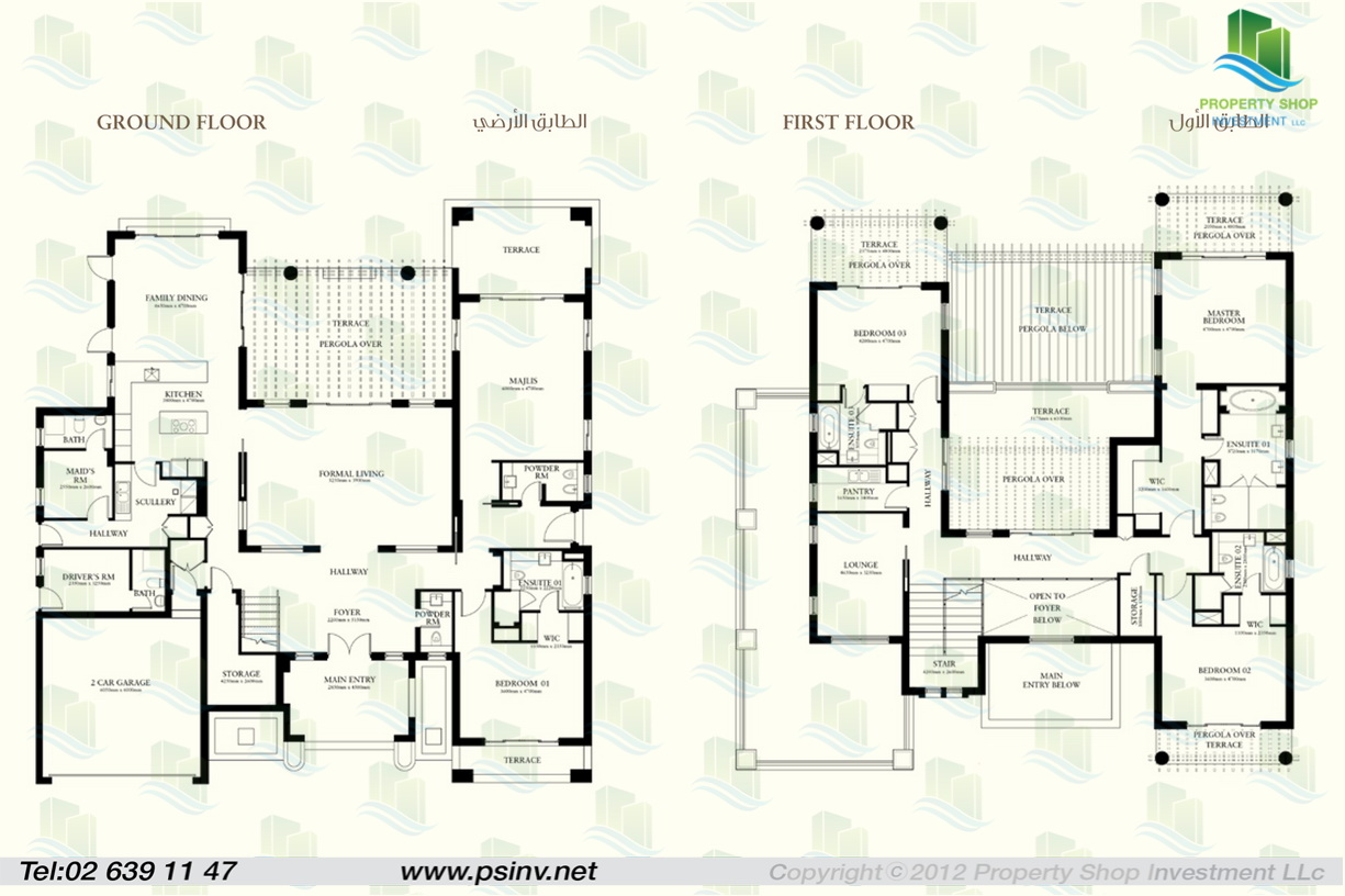 Floor plan of 5 bedroom st regis villa saadiyat island for Villa floor plans