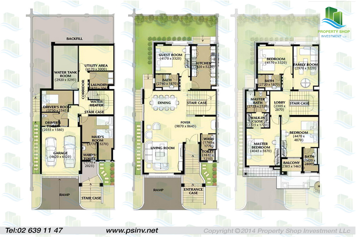 Al forsan village floor plans abu dhabi for Townhouse layout 3 bedrooms