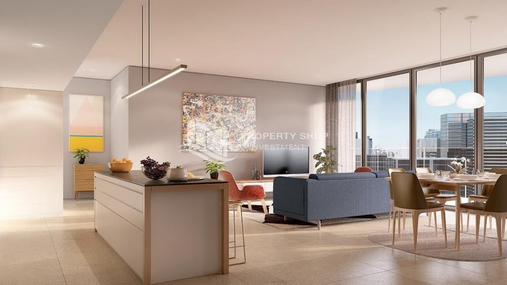 Living Room-Brand new tower in Reem Island.