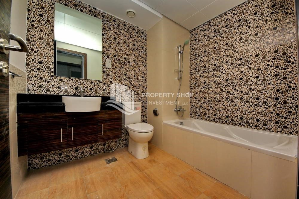 Bathroom-1 Bedroom apartment for rent in Al Ghadeer!