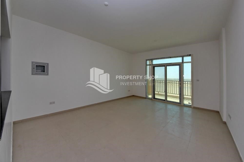 Living Room-1 Bedroom apartment for rent in Al Ghadeer!