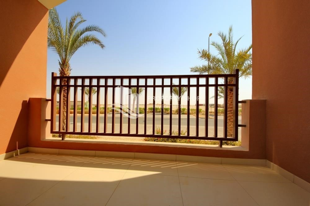 Balcony-Building Studio available for rent in Al Ghadeer immediately