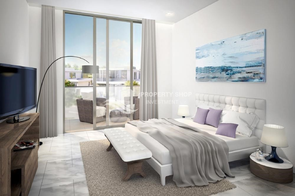 Bedroom-Flexible payment options for offplan property in Yas Acres.