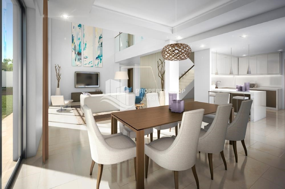 Dining Room-Flexible payment options for offplan property in Yas Acres.