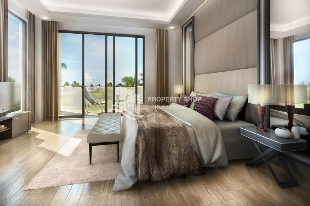 Master Bedroom-Flexible payment options for offplan property in Yas Acres.