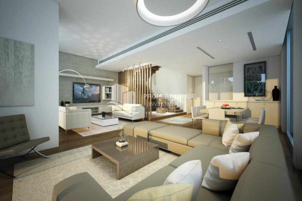 Living Room-Exclusive 3BR TH with relaxing private pool.