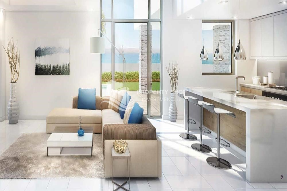 Living Room-Live in your dream home! Own a luxurious apartment in Yas Acres.